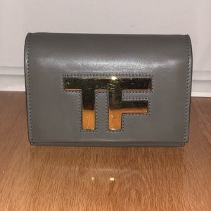Tom Ford Mirror Leather Crossbody Clutch Bag